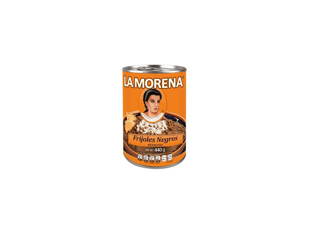 La Morena Frijoles Negros Refritos 440