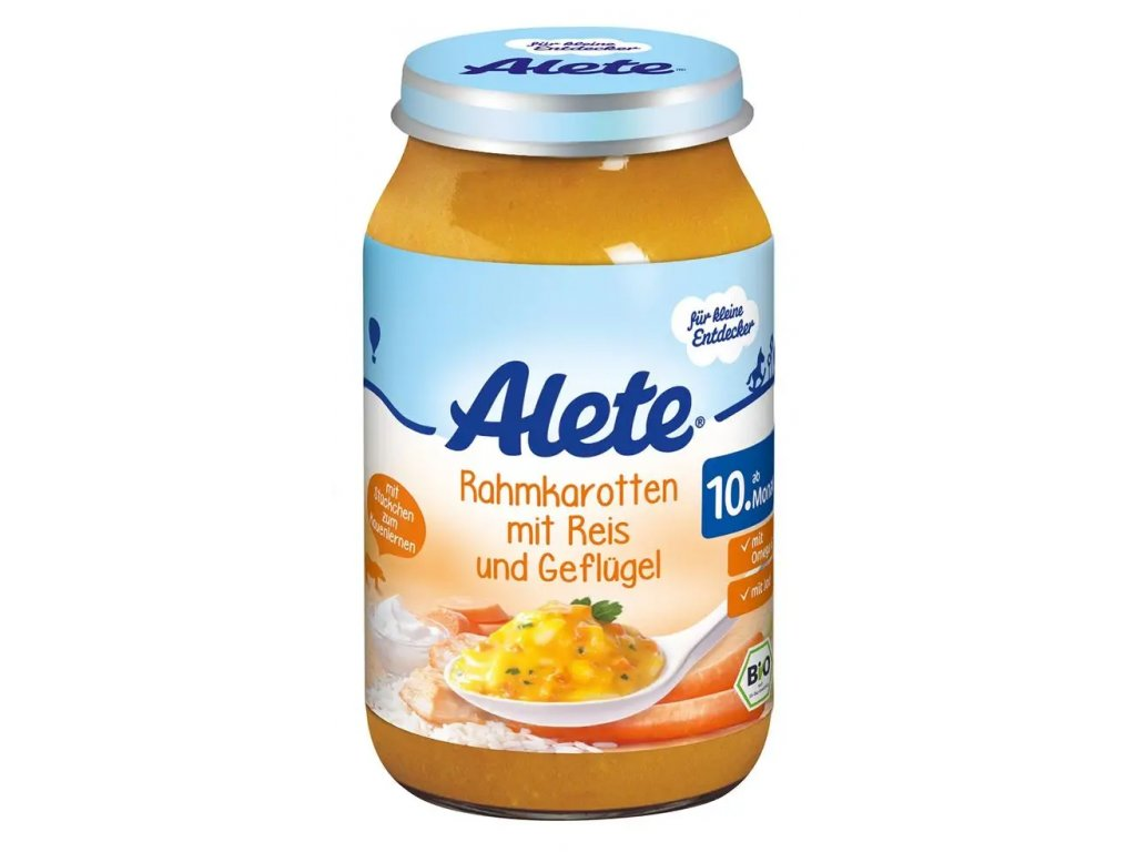 Alete BIO baby food rice with carrot, cream and turkey meat 220g