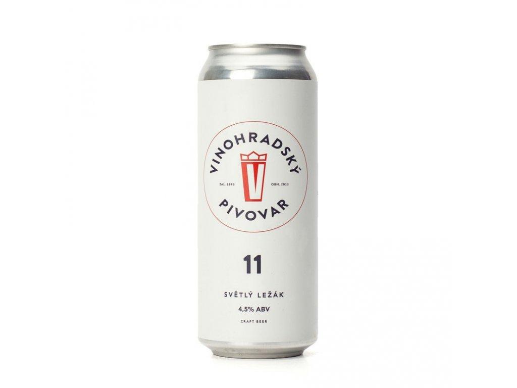 Pivo Vinohradská 11 světlý ležák 4,2% 0,5L plech