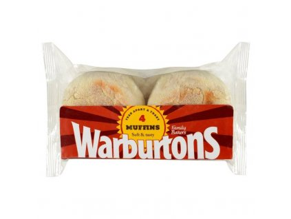 Warburtons Toasting Muffins 4pcs (Pack size 256g)